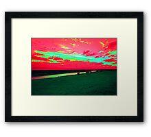 Martian Sunset over Blakeney Framed Print