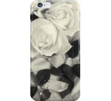 Roses in Black and White iPhone Case/Skin