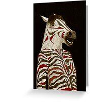 Miss Zebra Dressed In Her Best!  Greeting Card