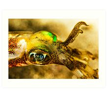 Squid Eye Art Print