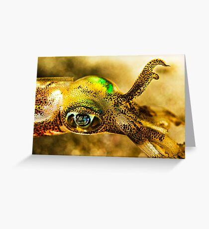 Squid Eye Greeting Card