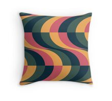 Psychedelic Wave Throw Pillow