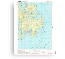 Maine USGS Historical Map Vinalhaven 103065 2000 24000 Canvas Print