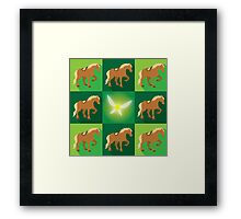 Abstract Epona on a field of green Framed Print