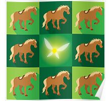 Abstract Epona on a field of green Poster