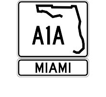 A1A - Miami Photographic Print