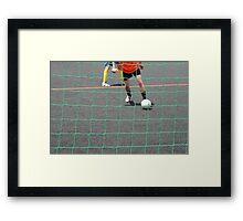 street soccer Framed Print
