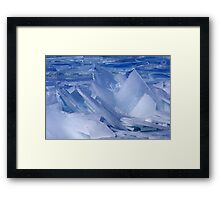 Blue Ice Shards Framed Print