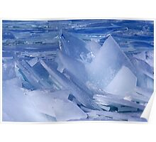 Blue Ice Shards Poster