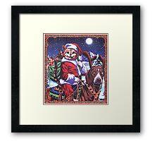 Santa Kat! Framed Print