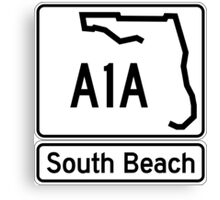 A1A - South Beach Canvas Print