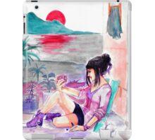 H mugs and purple chucks iPad Case/Skin
