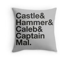 NATHAN FILLION and His Many Characters  Throw Pillow