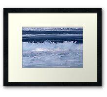 Ice Glass Framed Print