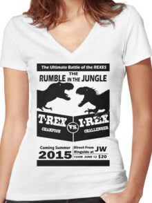 The Rumble in the Jungle Women's Fitted V-Neck T-Shirt