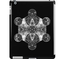 Metatron's Cube silver iPad Case/Skin