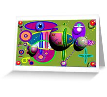 There's A Party In My Art Work! Greeting Card