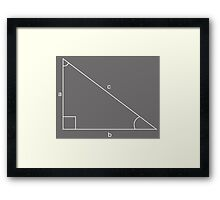 abc triangle Framed Print