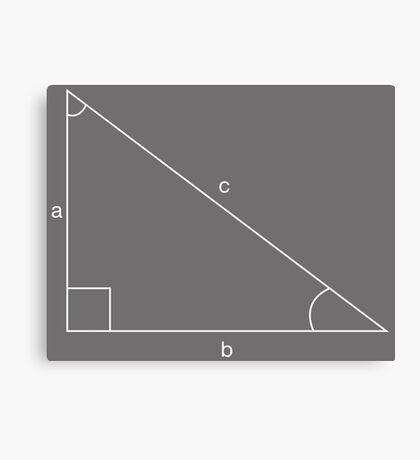 abc triangle Canvas Print