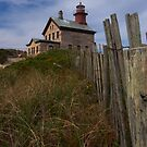 North Lighthouse Block Island by Dan Sweeney