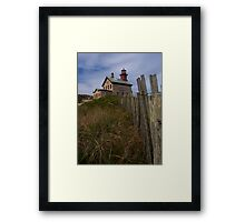 North Lighthouse Block Island Framed Print