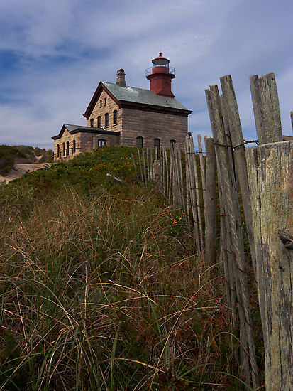 North Lighthouse Block Island by Dan Sweeney