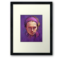 Portrait of Phoebe : Oil Painting Framed Print