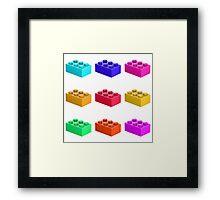 Warhol Toy Bricks Framed Print