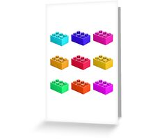 Warhol Toy Bricks Greeting Card