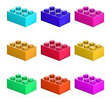 Warhol Toy Bricks Photographic Print