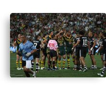 Packing a Scrum Canvas Print