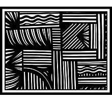 Maltbia Abstract Expression Black and White Photographic Print
