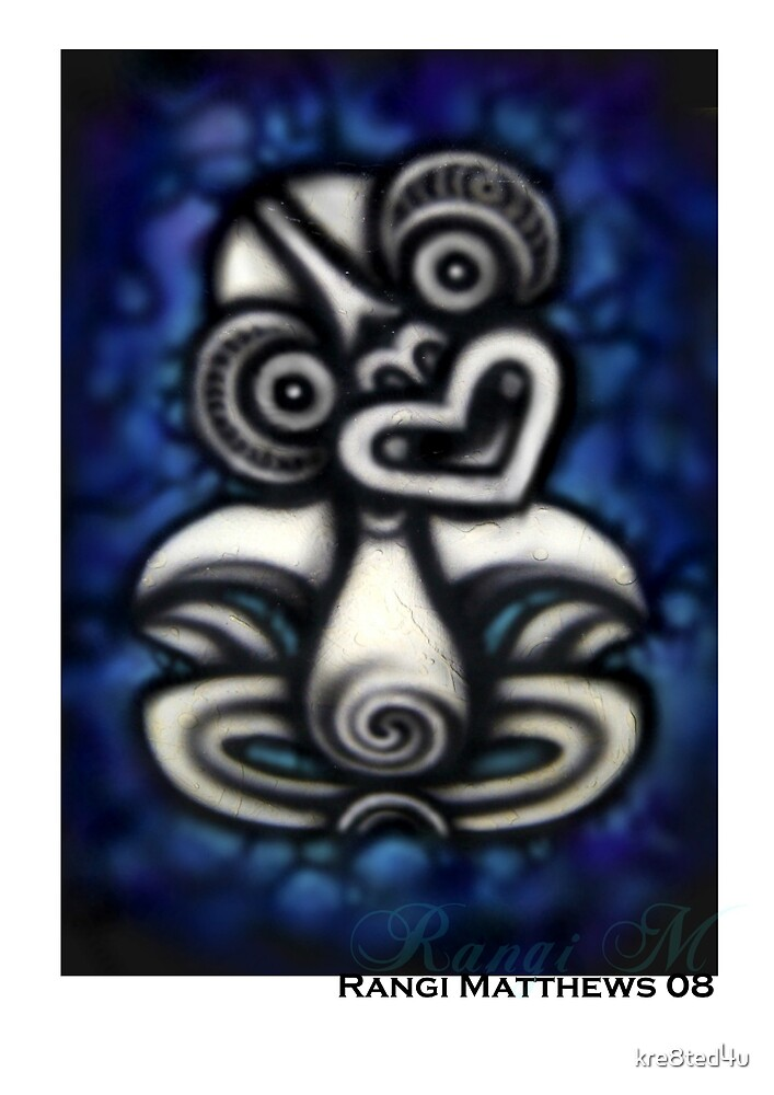 Blue Tiki by Rangi Matthews