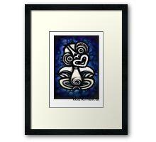 Blue Tiki Framed Print