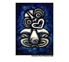 Blue Tiki Photographic Print