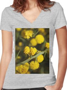 Acacia alata (2) Women's Fitted V-Neck T-Shirt