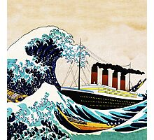 The Great Wave and The Great Ship Photographic Print