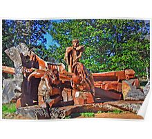 Wood Carving Poster