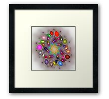 'Light Flame Abstract 288b2' Framed Print