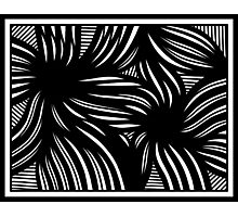 Hench Abstract Expression Black and White Photographic Print