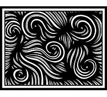 Haydel Abstract Expression Black and White Photographic Print