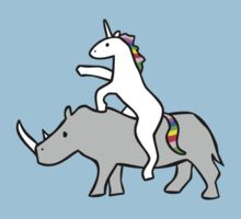 Unicorn Riding Rhino by jezkemp