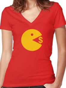 Eating Money - Manny Pacquiao  Women's Fitted V-Neck T-Shirt