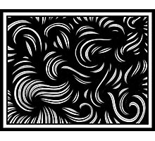 Lausell Abstract Expression Black and White Photographic Print