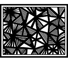 Lorton Abstract Expression Black and White Photographic Print