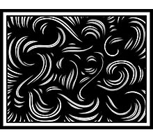 Ulman Abstract Expression Black and White Photographic Print