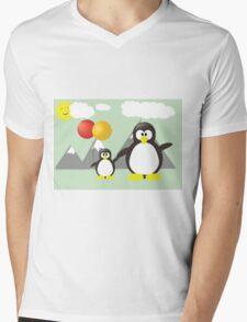 Summer Penguins  Mens V-Neck T-Shirt