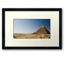 Pyramids of Giza Framed Print