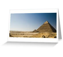 Pyramids of Giza Greeting Card