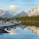 Colter Harbor Sunrise by Bob Moore